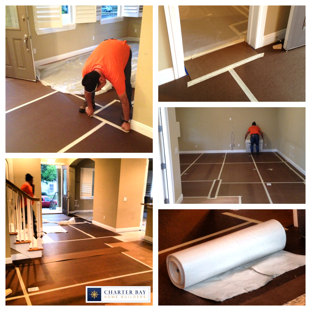 Floor protection systems for chinese drywall remediation