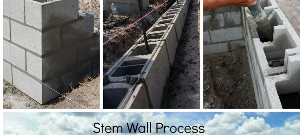 Custom Home Stem Wall