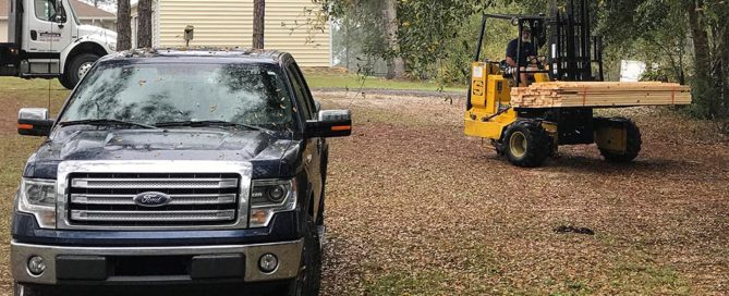 Lumber Delivery for Dade City Renovation Project
