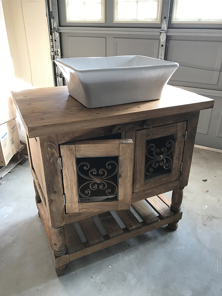 Custom Built Vanity (Dade City Project)