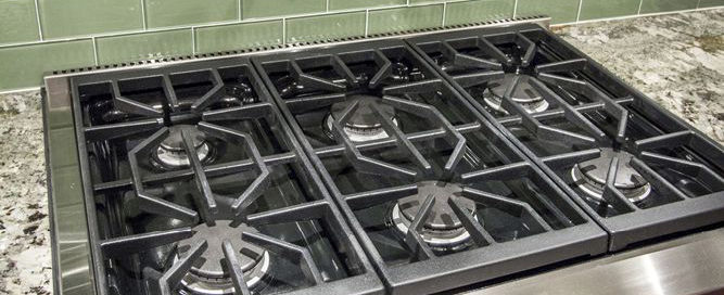 Wolf Gas Cooktop in a Custom-Built Project in Pasco County.