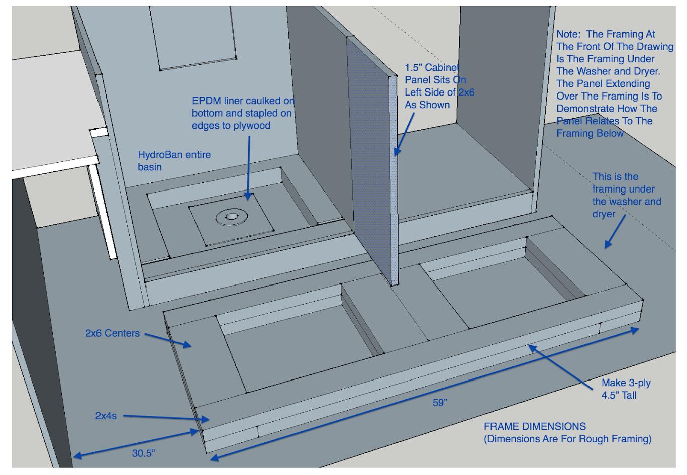 Custom Washing Machine Drain Pan